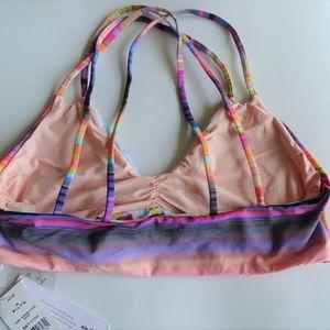 Pilyq Swim - PilyQ NWT Sunset Utopia Reversible Bikini Top